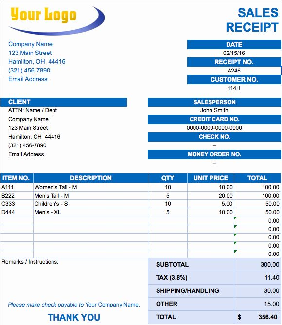 Difference Between Invoice and Receipt Elegant Shipping ...