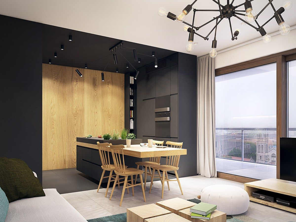 Minimal And Chic Taiwan Apartment With Turquoise Accents ...