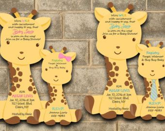 Attractive Giraffe Baby Shower Invitation Giraffe Baby By Newyorkinvitations