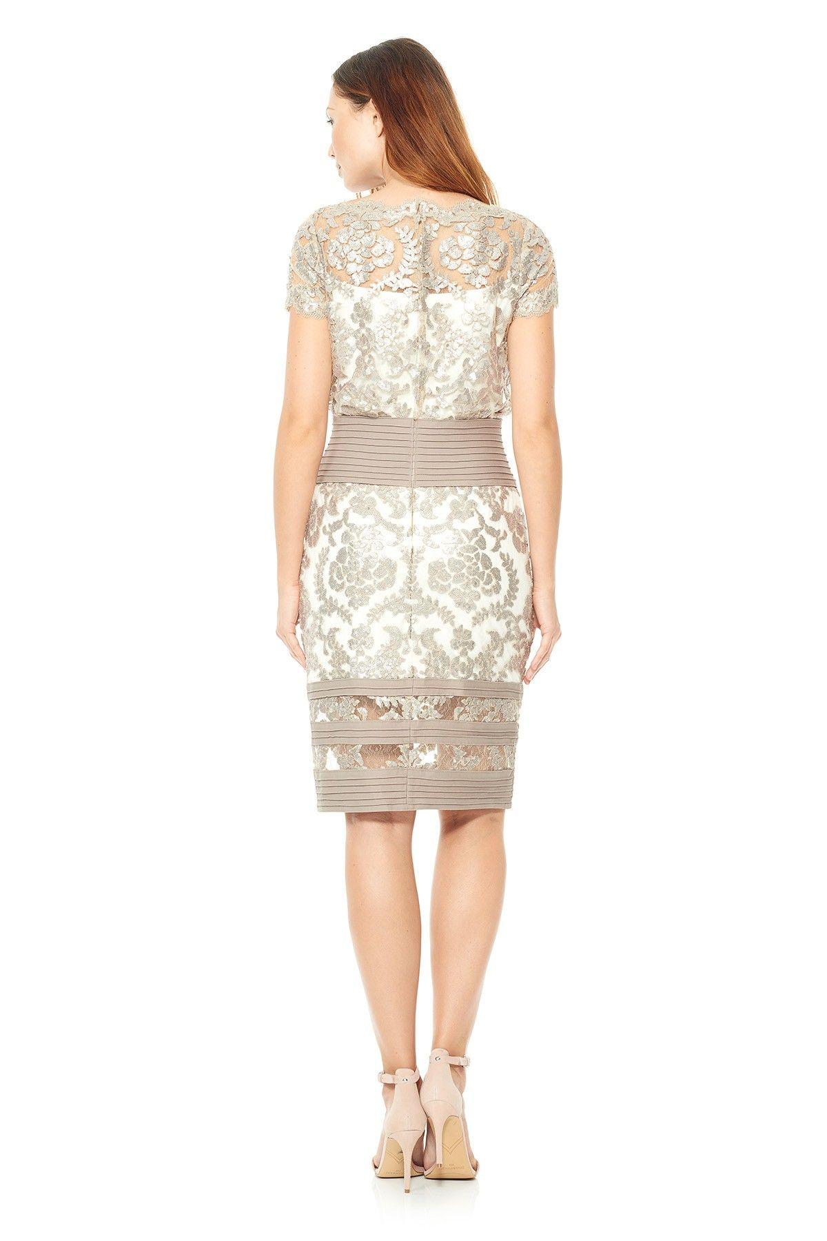Blouson Waist Paillette Embroidered Lace Dress. Tadashi ShojiEmbroidered ...