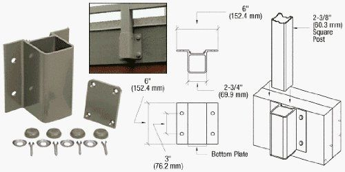 Crl Beige Gray Fascia Mount Bracket By C R Laurence 34 57 Seven Standard Colors Available To Match All Crl Aluminum R Home Hardware Aluminum Railing Fascia