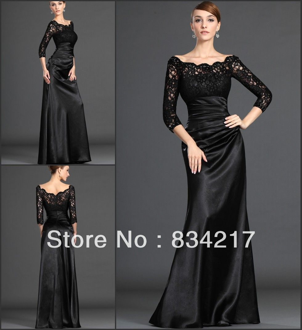 Elegant long lace mother of the bride dresses pant suits off the