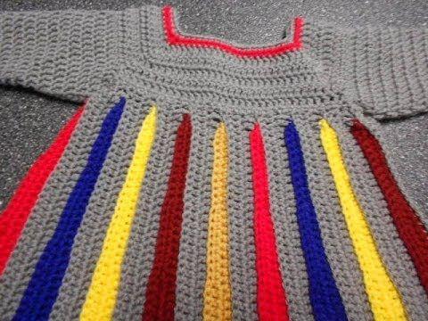 Sweter para niña Crochet parte 1 de 4 - YouTube   crochet ...