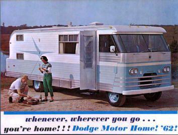 Curbside Classic 1963 Clark Cortez Motorhome The Revolutionary Compact Rv Fwd Slant Six Torsion Bar I Motorhome Vintage Motorhome Vintage Travel Trailers