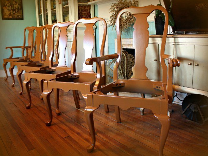 Painted Furniture Greenville Furniture Painting Greenville SC Furniture  Refinishing Greenville SC | Burnt Orange Chairs |
