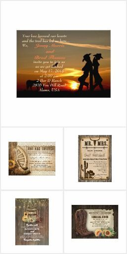country western wedding invitations country western themed wedding
