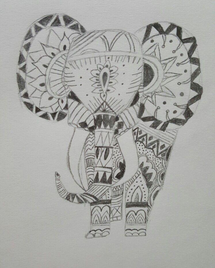 Elephant drawing 🐘 #elephant #pencil