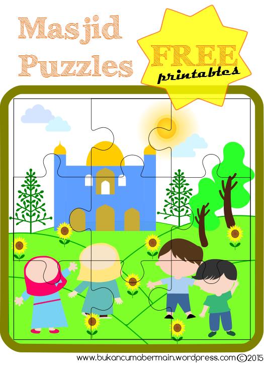 Seri Ramadhan Puzzle Masjid Kegiatan Untuk Anak Kegiatan Sekolah Kartu