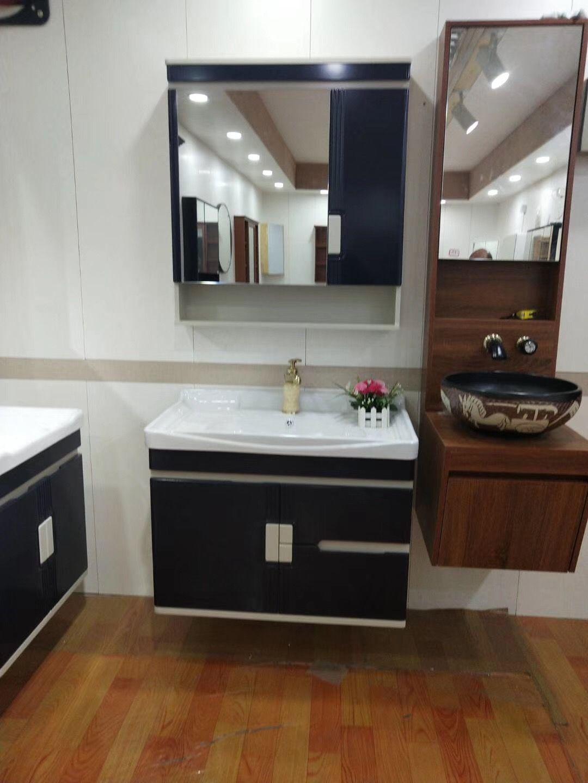 80cm Bathroom Vanity With Side Cabinet Big Ceramic Basin 130usd Bathroom Vanity Led Mirror Bathroom Bathroom Decor [ jpg ]
