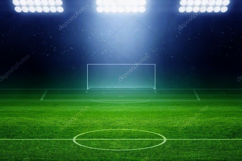 Stock Photo ,Soccer stadium - Stock Photo ,  6328 Soccer Stadium Field Backdrop  Christmas card wit