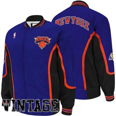 228775846a73 ... Blue f Mitchell Ness New York Knicks Hardwood Classics Authentic  Vintage Warm-Up Jacket - Royal ...