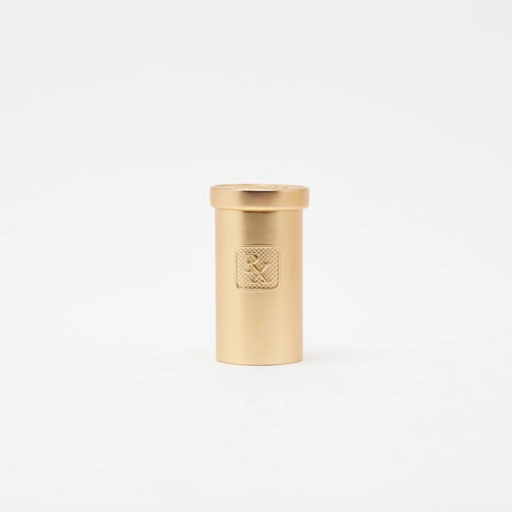 Brass Rx Case Pill Bottles Campfire Candle Brass