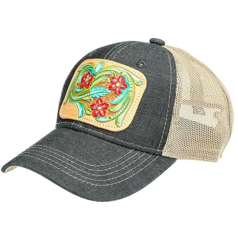 82861be78ed Women s McIntire Saddlery Painted Floral Denim Cap