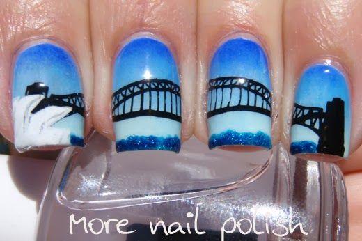 Aussie Nails Sydney Harbour Bridge Nail Art Take 2 More Nail