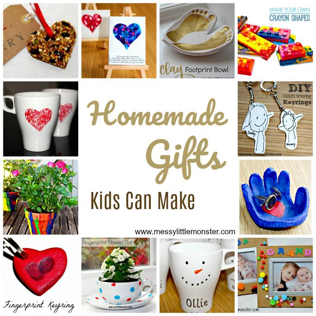 Handmade Gifts Kids Can Make Diy christmas gifts for