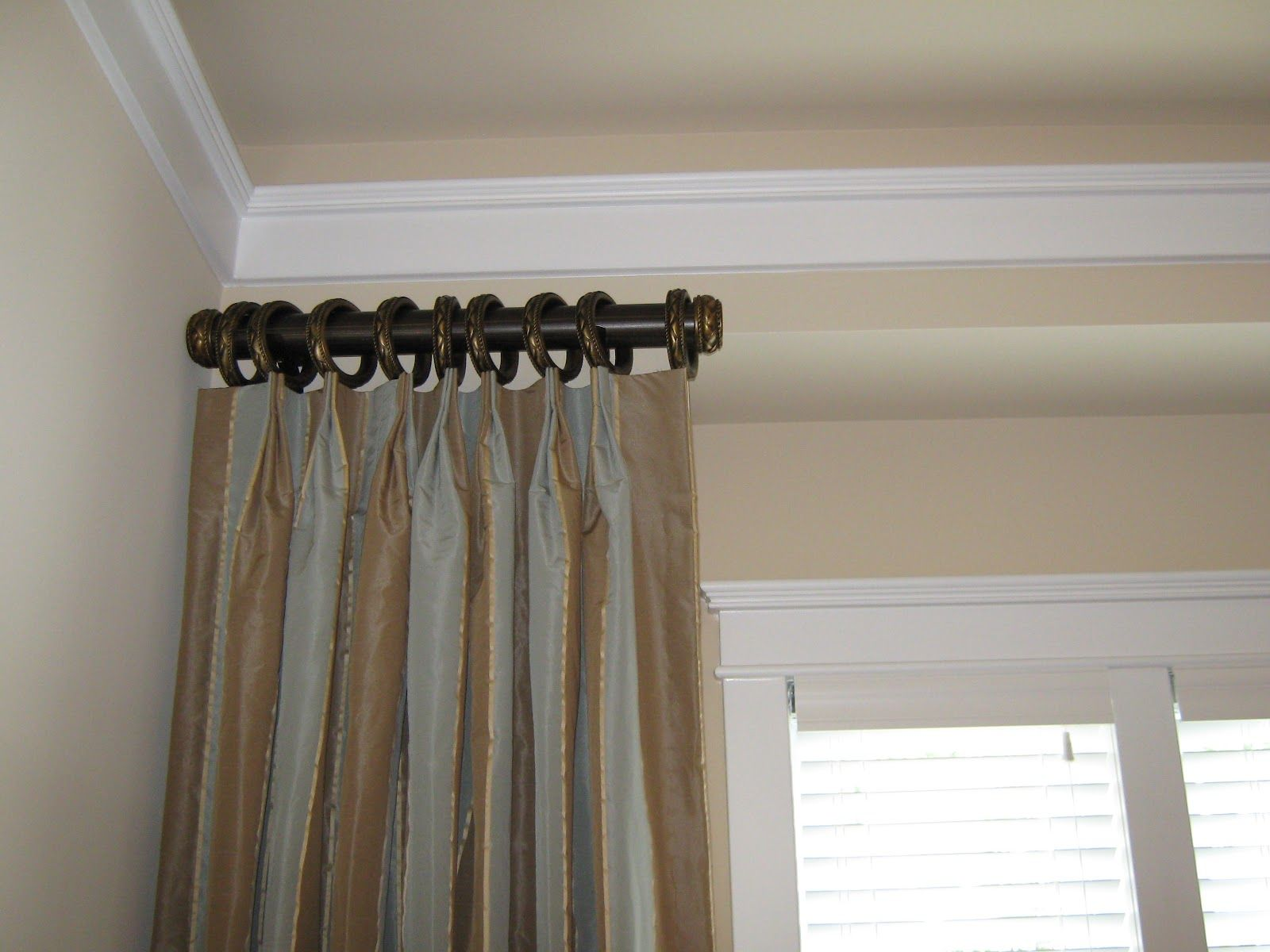 Decorative side panel curtain rod panels is a Short curtain rods