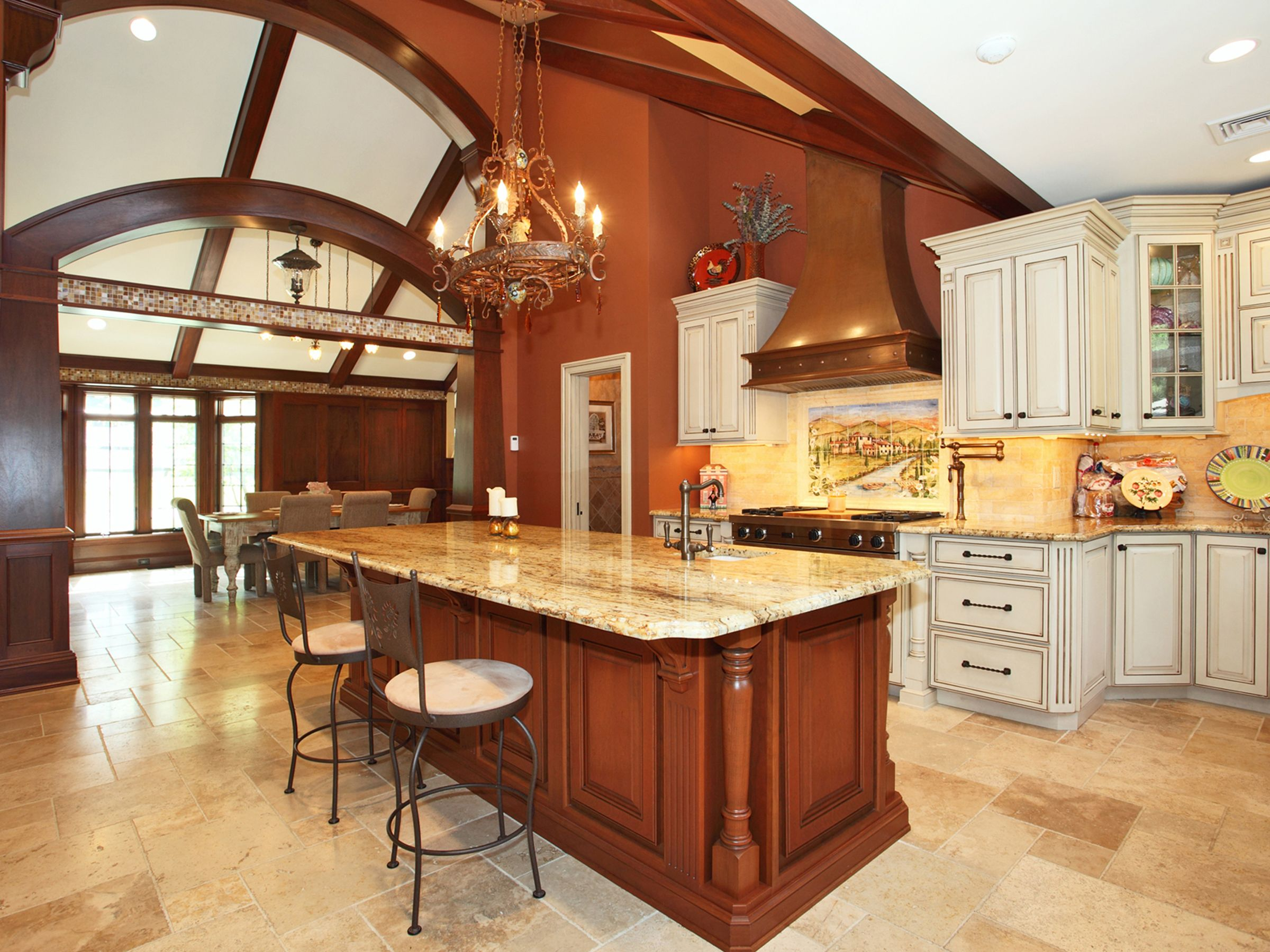 architectural kitchen with vaulted ceiling in traditional styling somervillelumber cabinets on kitchen cabinets vaulted ceiling id=76023