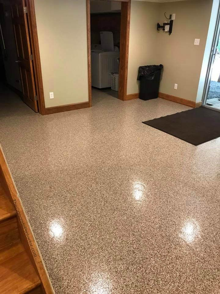 Epoxy Flake Floor 360 Coatings Morgantown Wv Flooring Concrete Coatings Basement Flooring Options