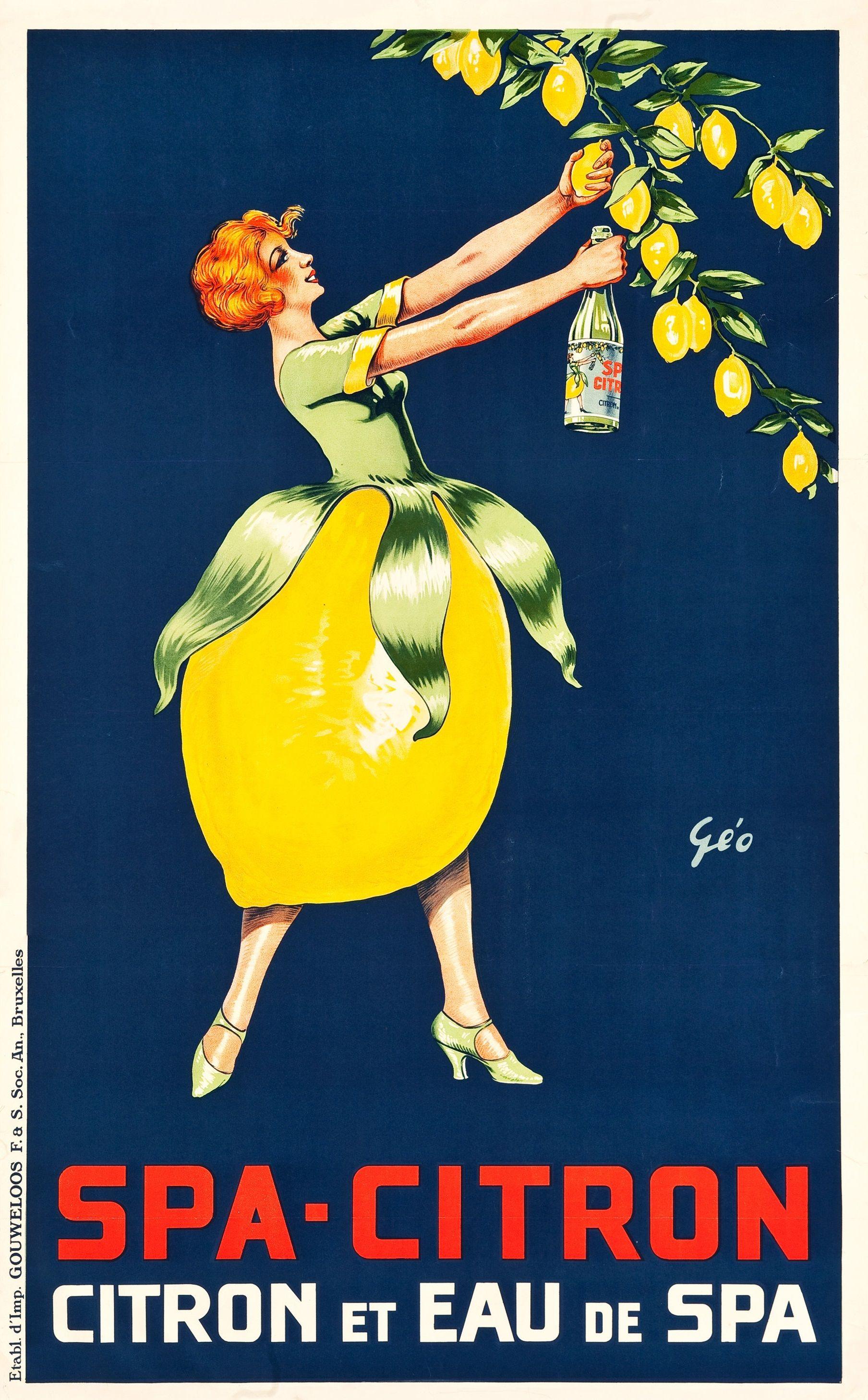 Spa-Citron - Belgian advertising poster (c.1925) # ...