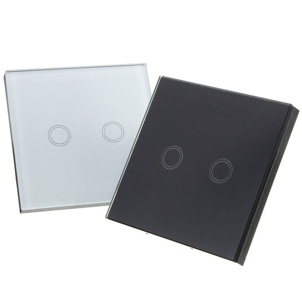 2 Gang 1 Way Touch Wall Light Switch Gl With Remote Control