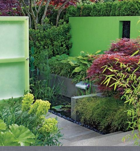 render walls for seclusion | Modern garden, Garden design ...