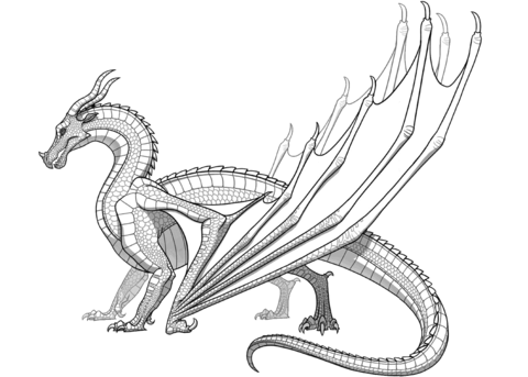 Skywing Dragon From Wings Of Fire Coloring Page Monster Coloring Pages Dragon Coloring Page Wings Of Fire Dragons