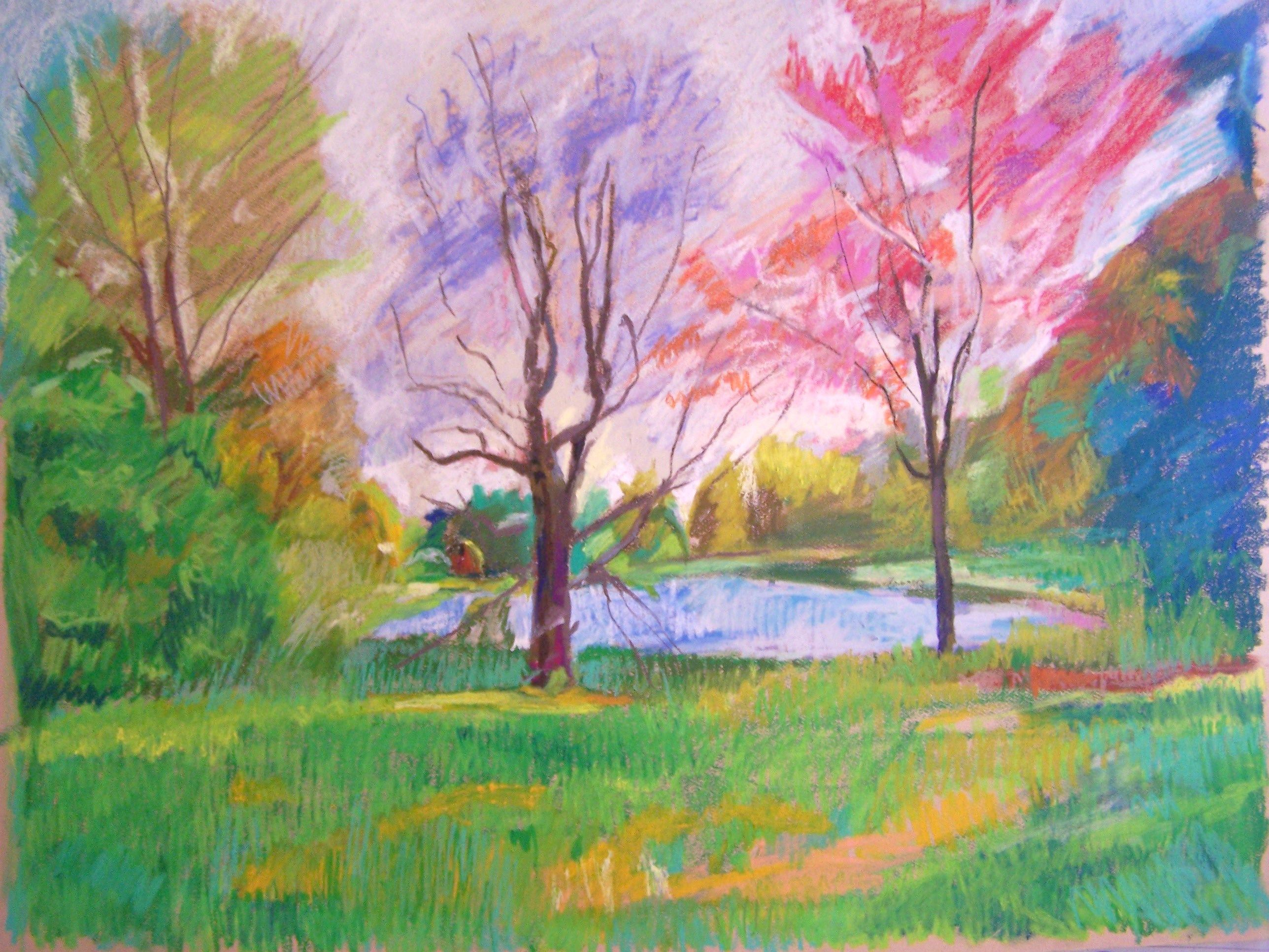 Chalk Pastel Drawings Landscape