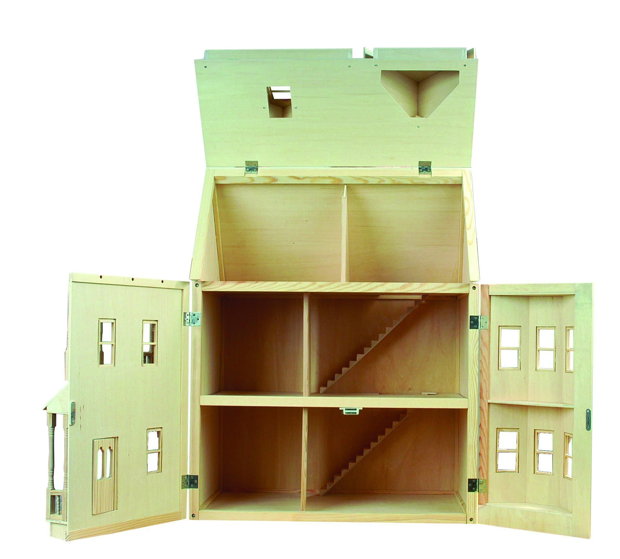 Beautiful Victorian Wooden Doll House   Kit Form   In Stock   Free Postage UK Only