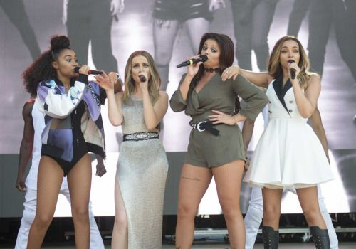 Little Mix performing at the Billboard Hot 100 Festival