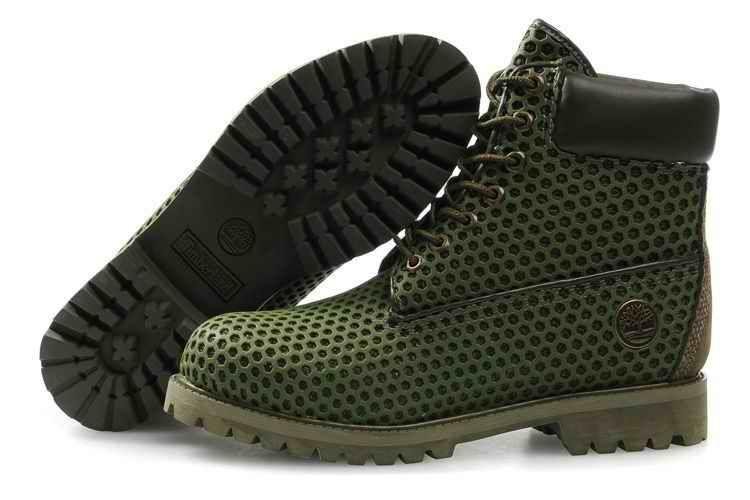 f9860bf1d758 Mens Timberland Custom Boots Green Mesh- 114