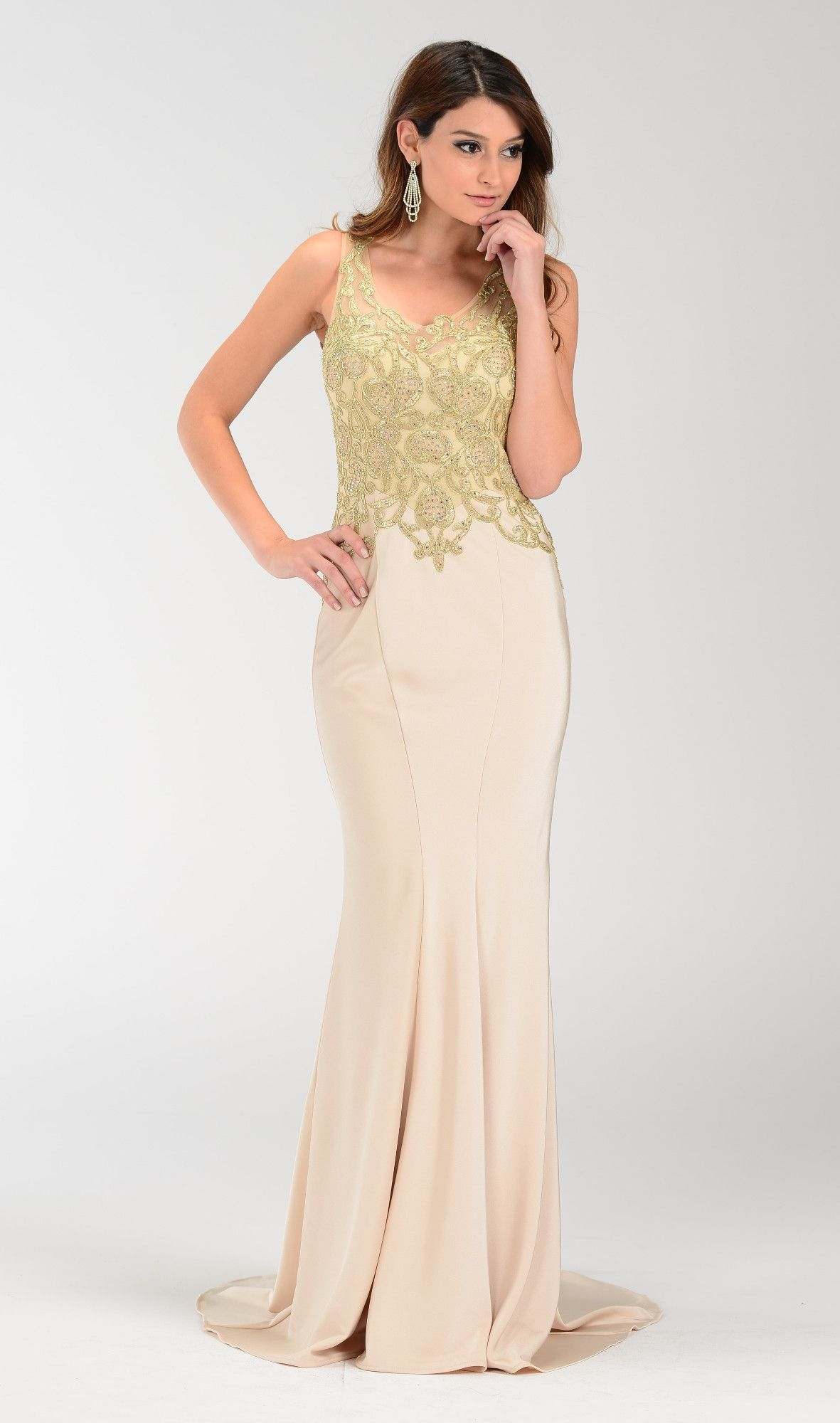Elegant long fitted pageant dress 1017484 tight prom