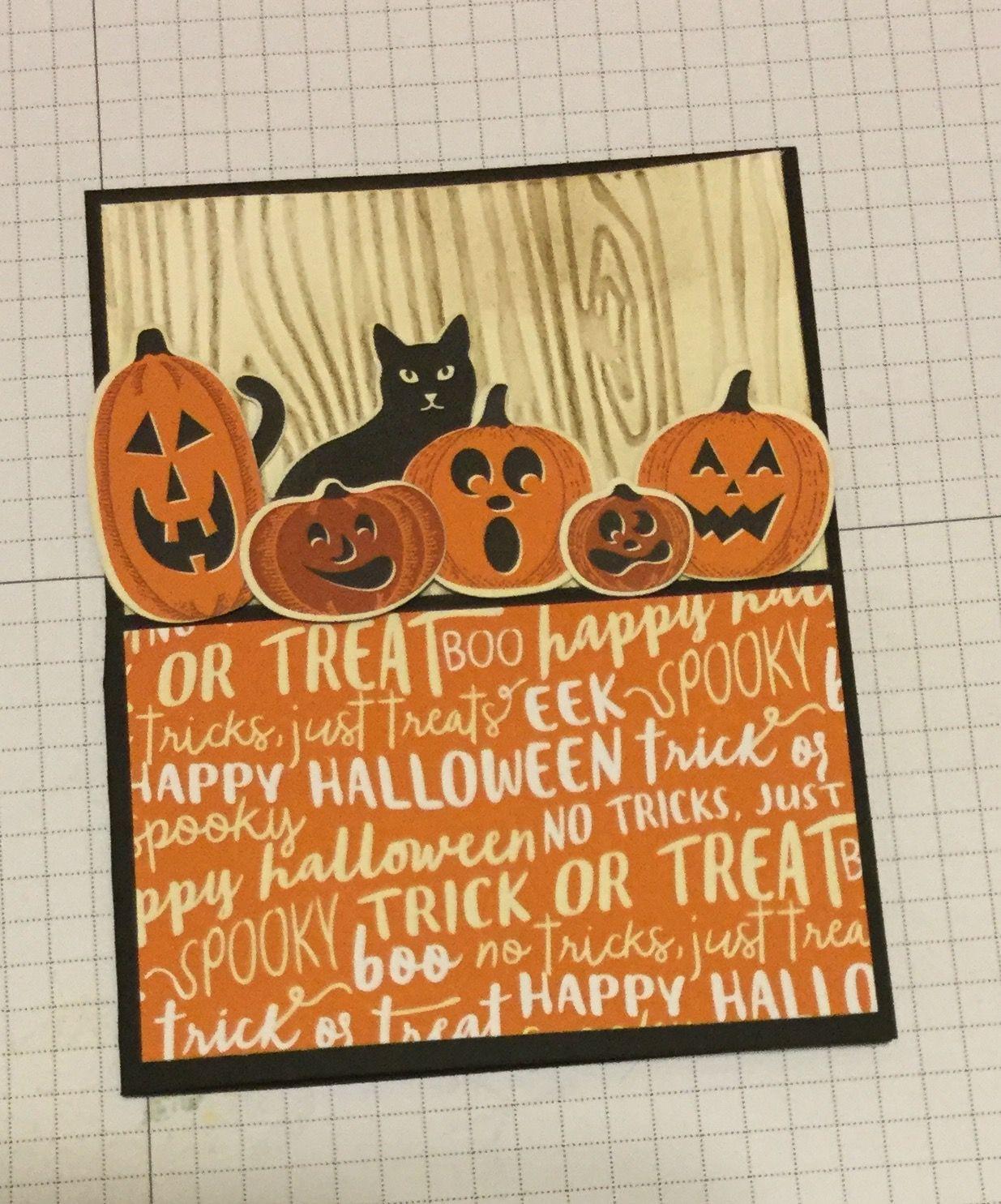 Blank Inside U Choose How Many Handmade HALLOWEEN Pumpkin Faces Die Cut Boo