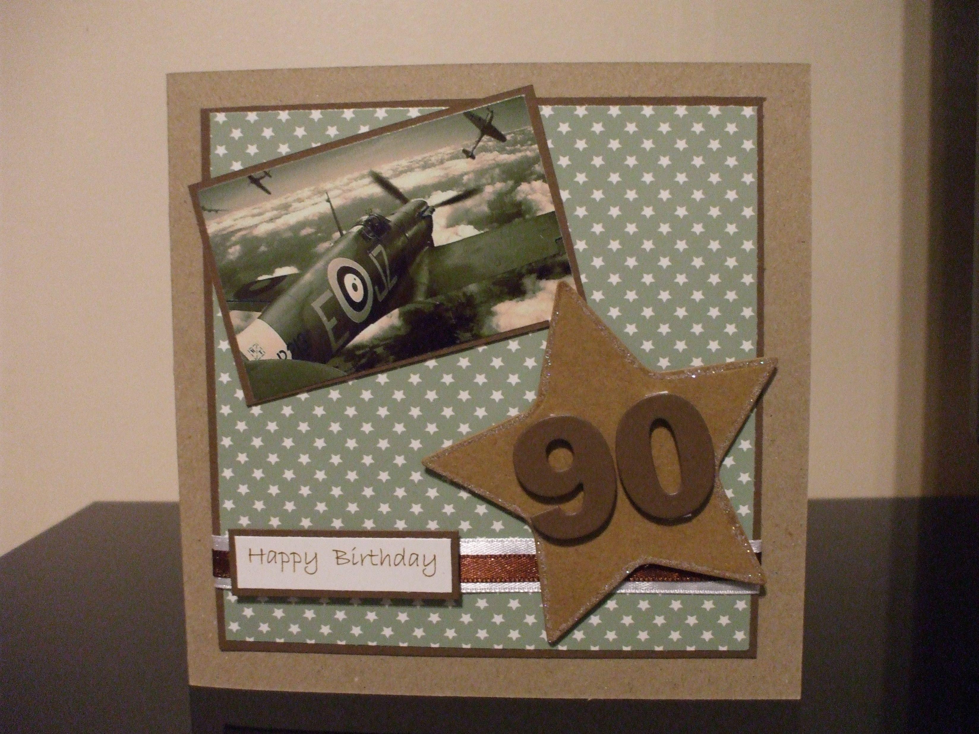 Handmade Male 90th Birthday Card Raf Theme 90th Birthday Cards Birthday Cards For Men Birthday Cards Diy