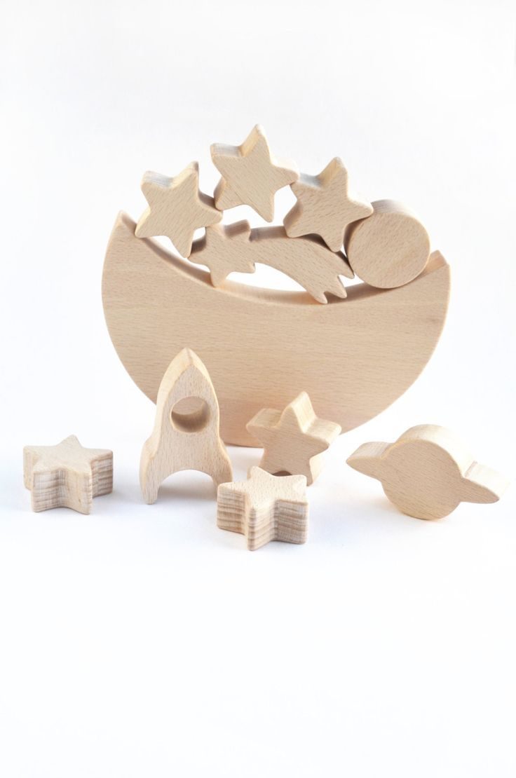 Wooden toys images  Space themed Balance toy wooden game for children Nursery decor Wood