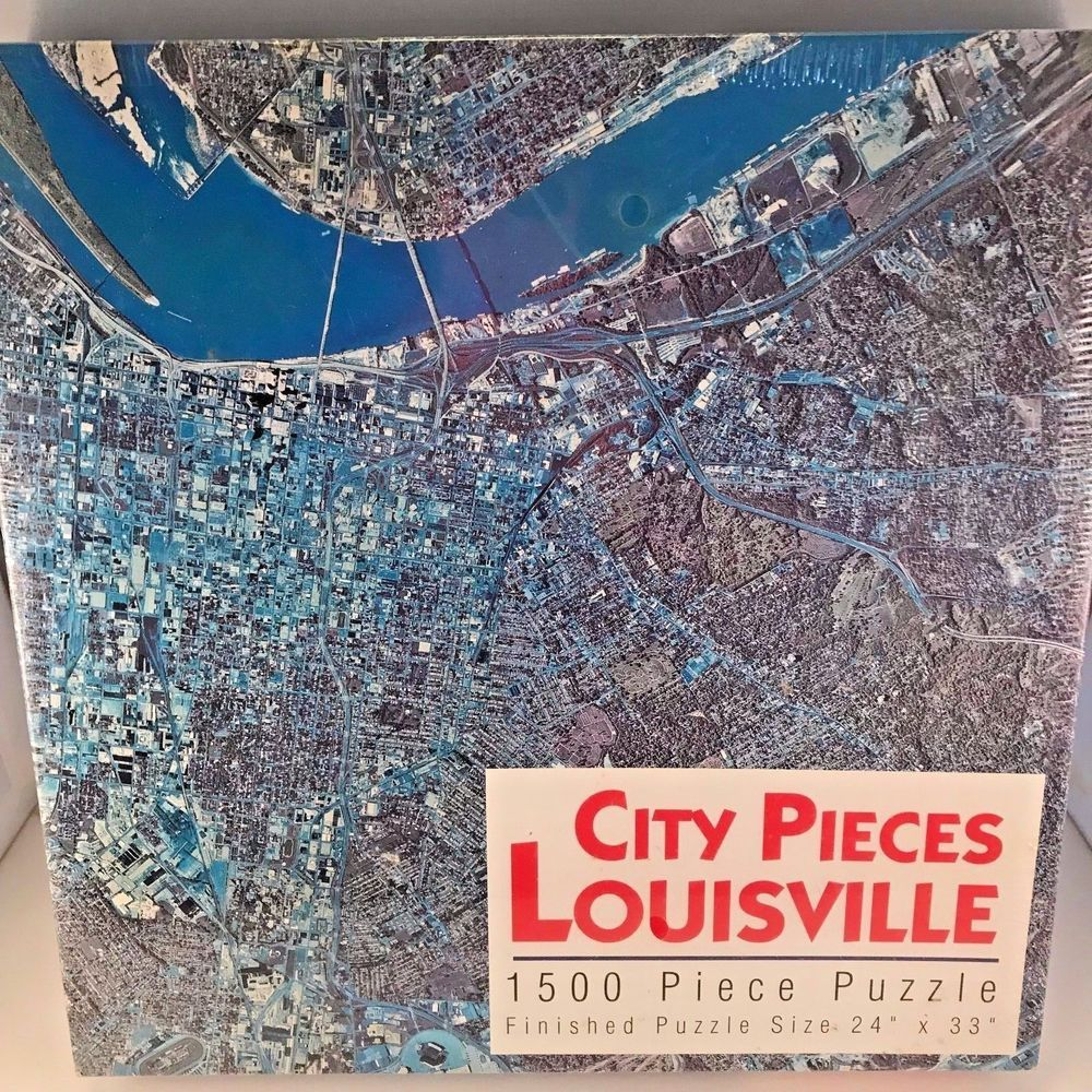 Louisville Kentucky Jigsaw Puzzle City Aerial Image
