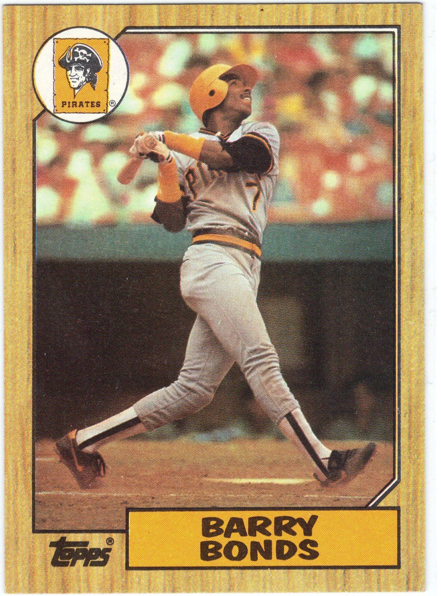 1987 topps 320 barry bonds rookie raw nm baseball