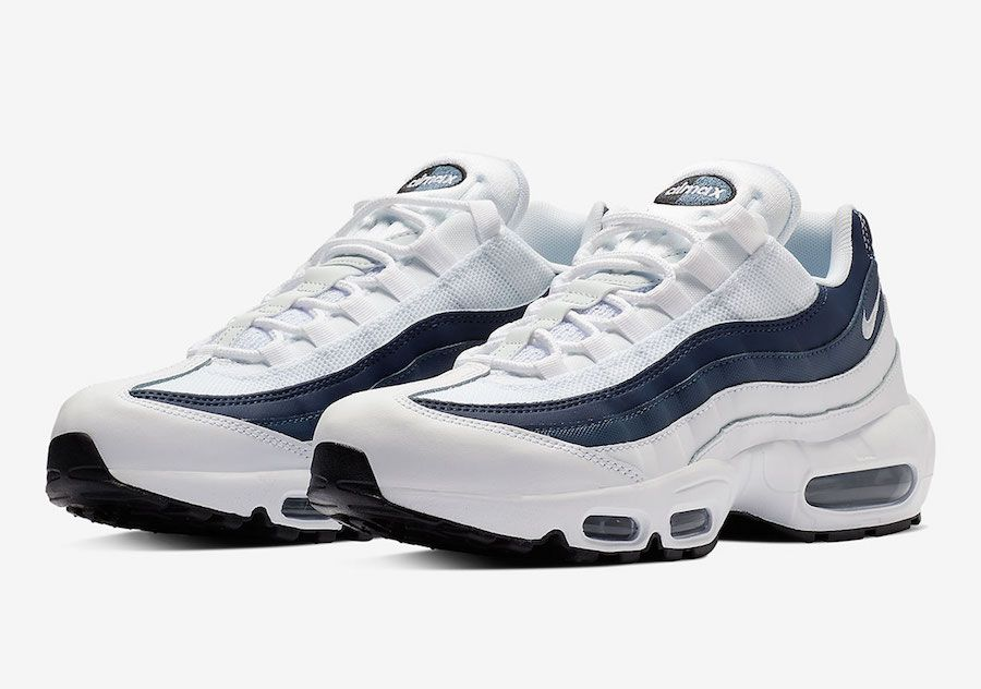 hot sale online 12c76 ba7a5 Nike Air Max 95 Essential (White/Midnight Navy/Monsoon Blue ...