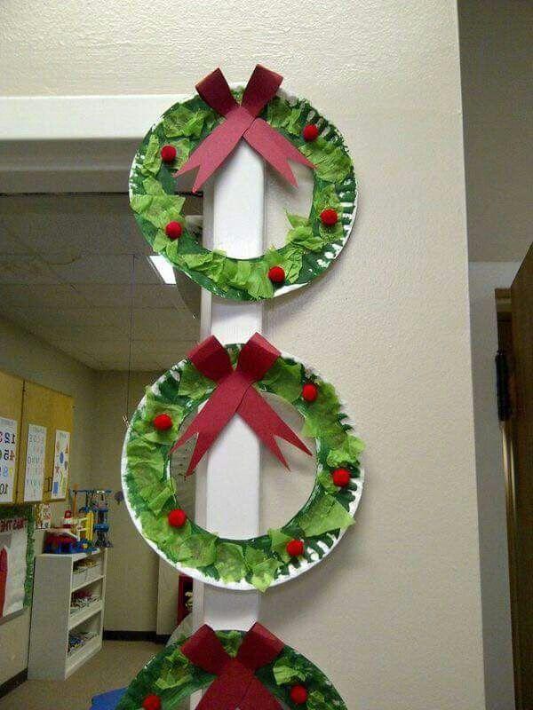 Manualidades navide as con platos desechables navidad - Manualidades con papel navidenas ...