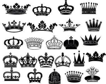Crown Silhouettes Clipart Royal Crown Clipart By Bhdigitalbox Crown Clip Art Crown Silhouette Queen Tattoo
