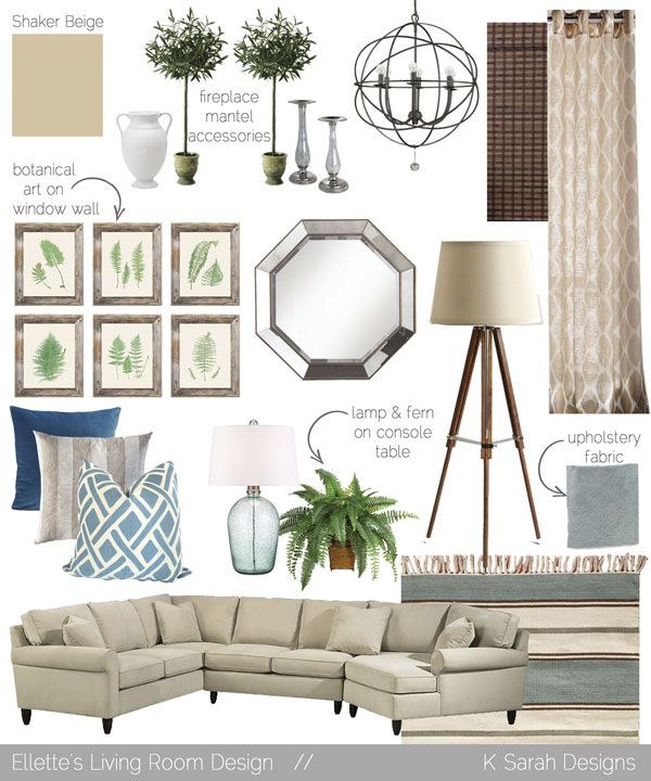 Mood boards a welcoming relaxing living room kitchen - Relaxing living room decorating ideas ...