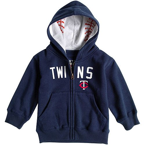 Twins Toddler Baseball Zip Hood by Soft as a Grape