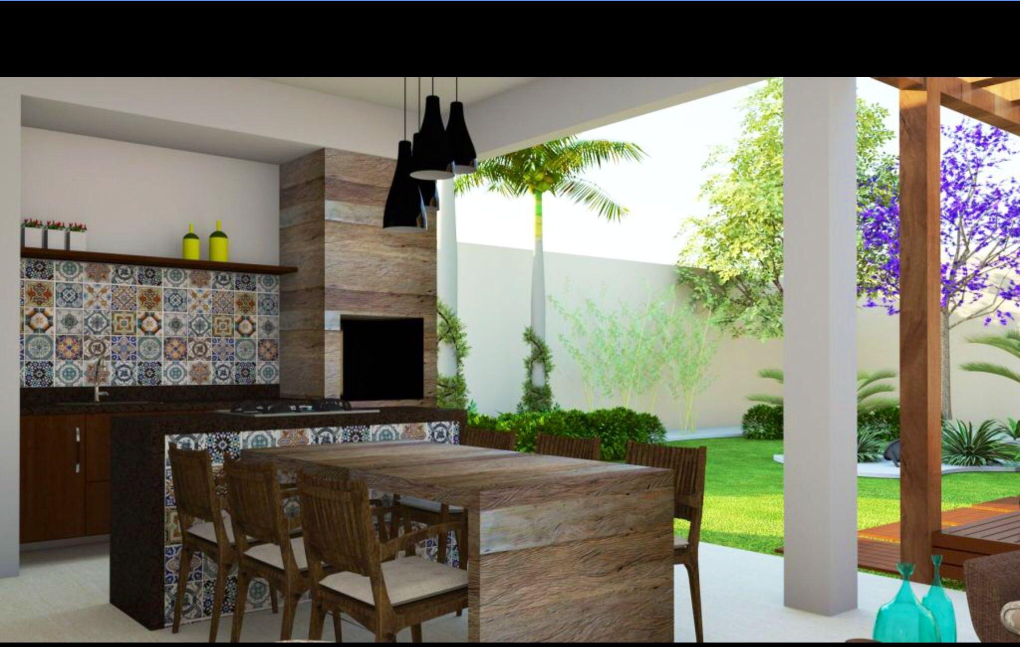 Varanda Gourmet Integrada Com Quintal C Jardim E Pergolado