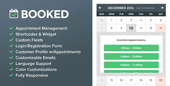 Booked v2.0.2 Appointment Booking for WordPress Blogger Template ...