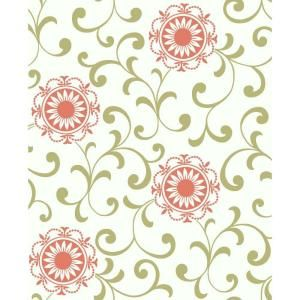 York Wallcoverings 56 sq. ft. Medallion with Scroll Wallpaper-AP7457 at The Home Depot