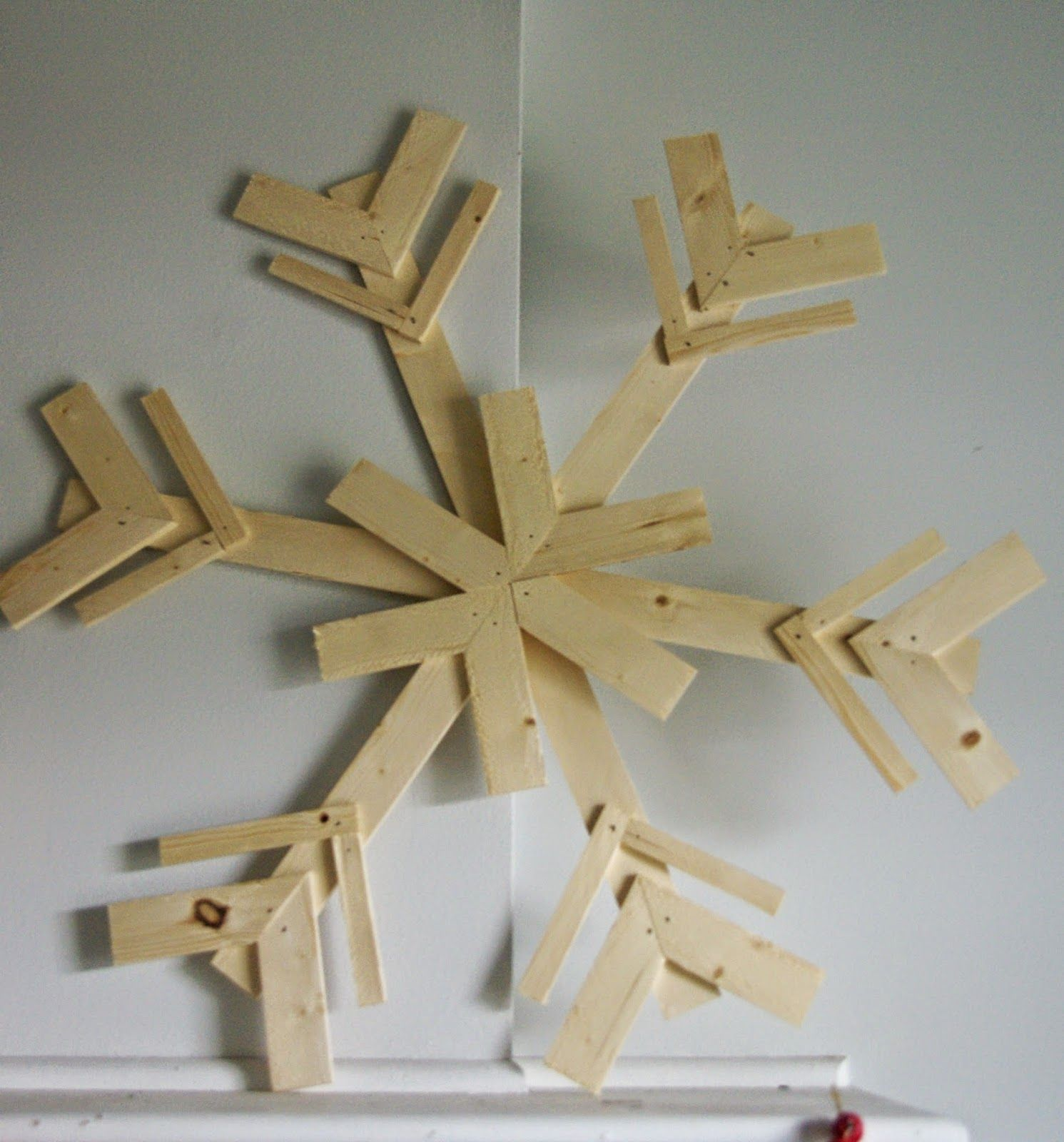 Our House, Now A Home: DIY Snowflakes, Wood Pallet