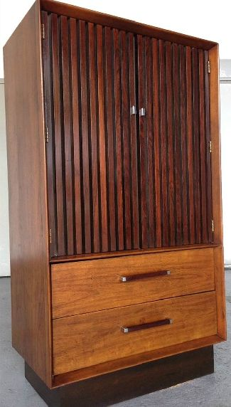 A vintage Mid Century Lane tall dresser/armoire with ...