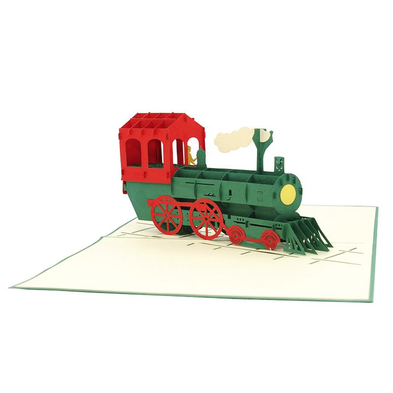 Classic Train Pop Up Card Green Popupcardvietnamsupplier 3dcardswholesales Charmpopcards Train Vehicle Pop Up Art Pop Up Cards Paper Craft Videos