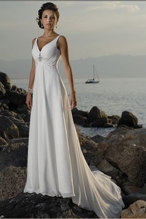 Classic Beach Wedding Dresses