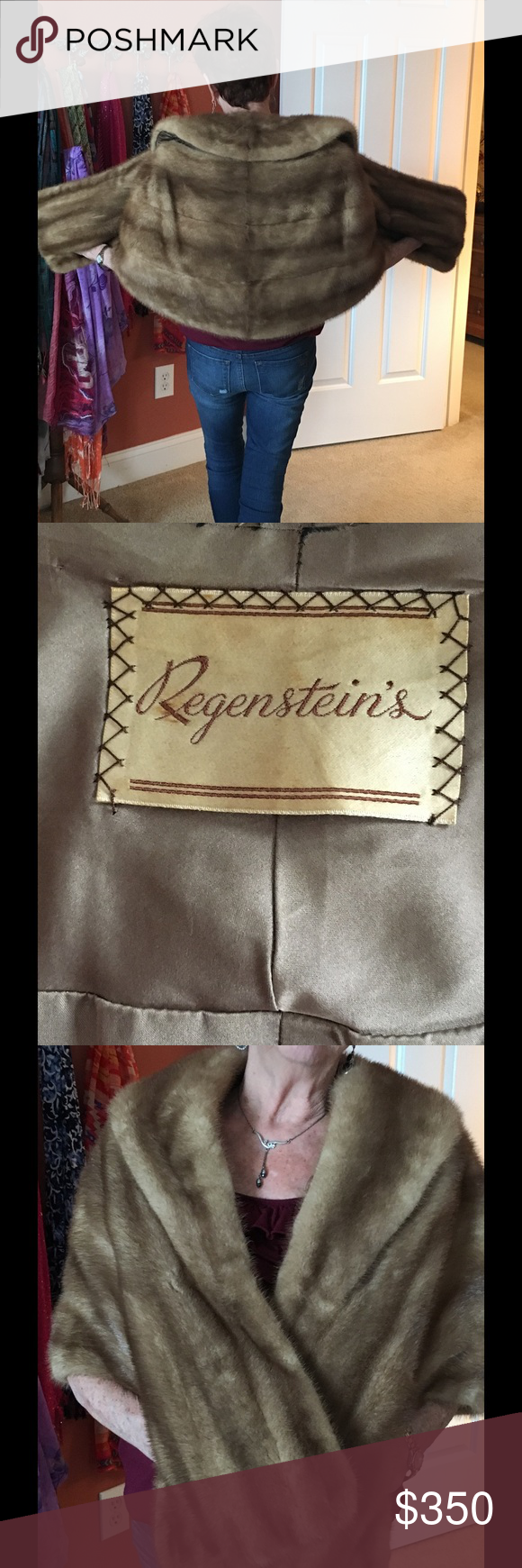 Vintage mink stole, price negotiable. Vintage honey fawn mink stole in pristine condition.  Price negotiable or OBO Regensteins Jackets & Coats Capes