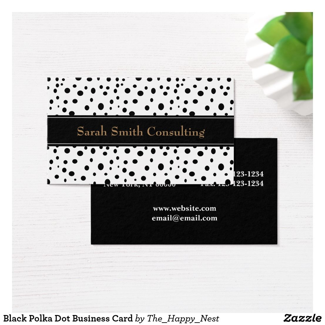Black Polka Dot Business Card | Products